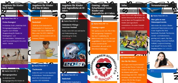 pedlet- Der kurze Weg zum Sport in Scharbeutz für Kinder und Jugendliche