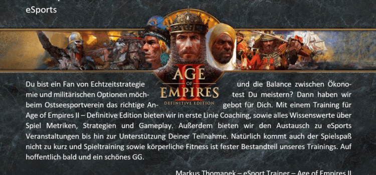 Age of Empires geht los am 10.08.2021 ab 18:00 Uhr – eSport im OSV